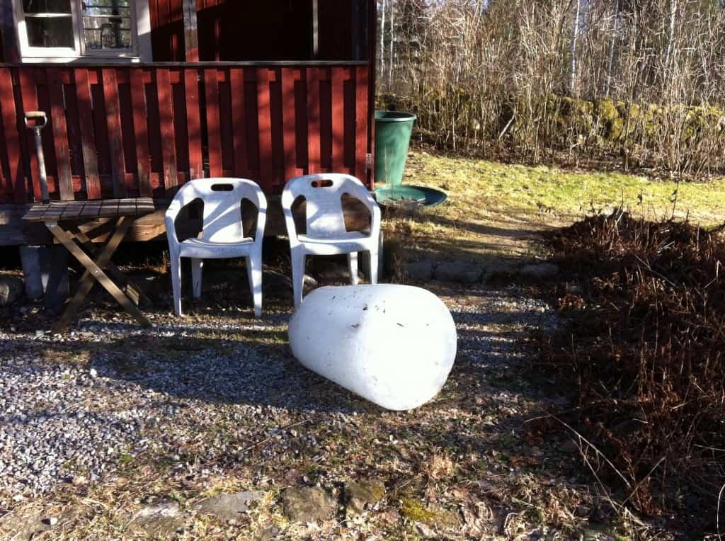 120 kilo is från regnvattentunnan.