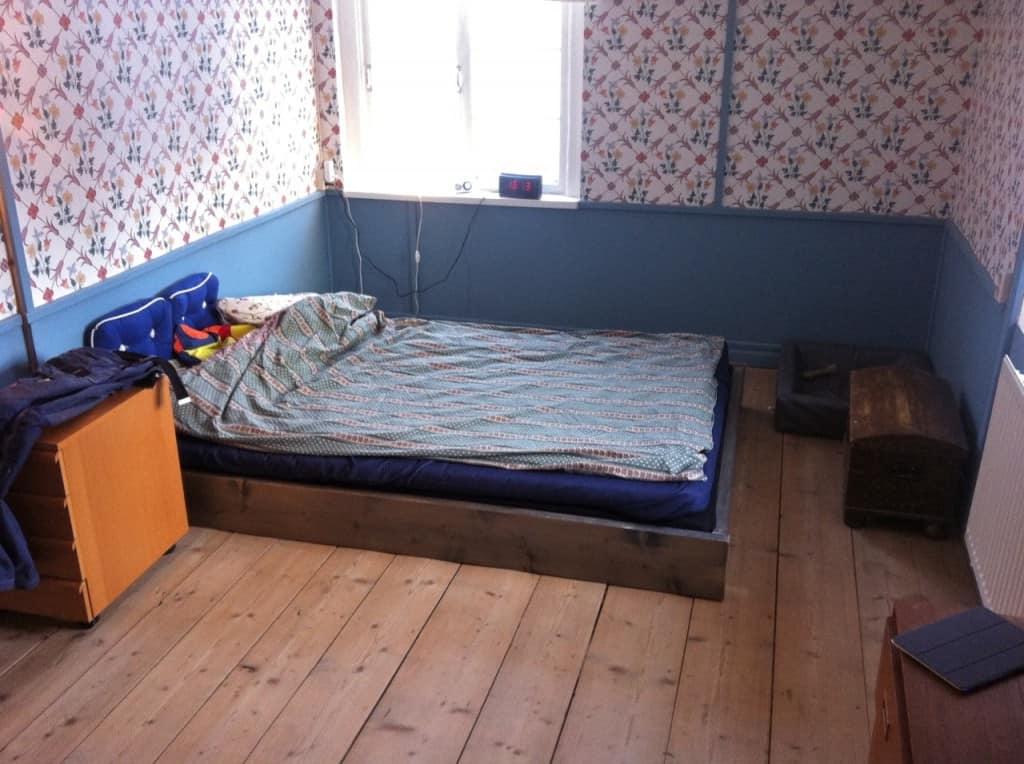 Det perfekta sovrummet börjar ta form.