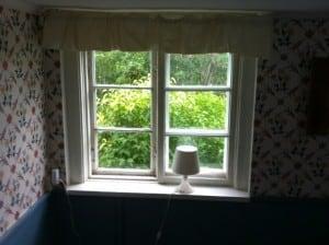 Spröjsade fönster inifrån