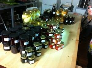 En dagsproduktion av frukt och bärprodukter.