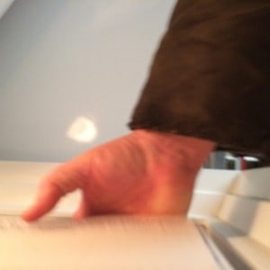 En oavsiktlig avfyrning av kameran fångade mig med handen i syltfrysen.