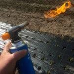 Gasolbrännare visade sig vara ett bra sätt att ta på på Mypecks, Tyvärr fick den här brännaren från Biltema spelet när man lutade den nedåt.