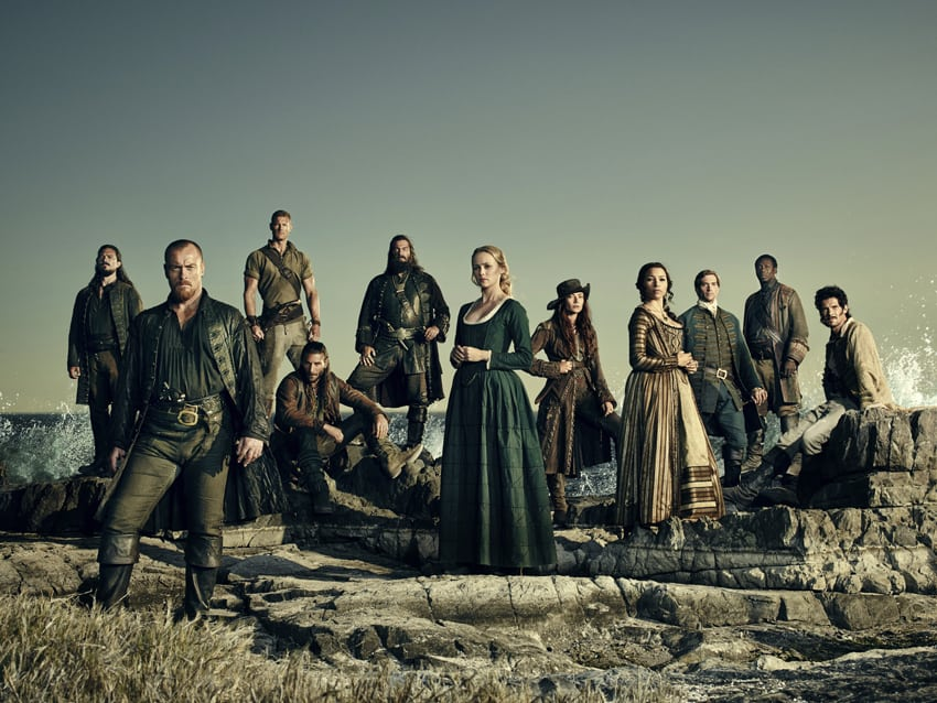 HBO Nordic har samtliga fyra säsonger av Black Sails och den är en toppenserie för alla som gillar riktigt barnförbjudna äventyr.. Bild: HBO Nordic