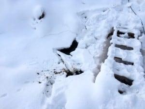 Att gena över isen när bron är precis bredvid kan verka onödigt, men det var faktiskt lite närmare.