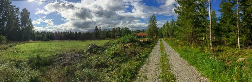 När det inte ligger en hög med gamla stubbar i vägen är det lättare att uppskatta vyn över fälten.