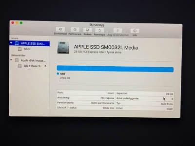 Att ha en ren SSD-hårddisk är lyxigt. Men 28 GB är i minsta laget.