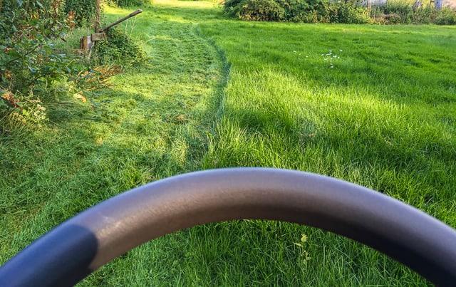 Att klippa högt gräs är en långsam och tålamodskrävande procedur. Att klippa ofta gör att du kan köra snabbare och spara båt tid och bränsle.